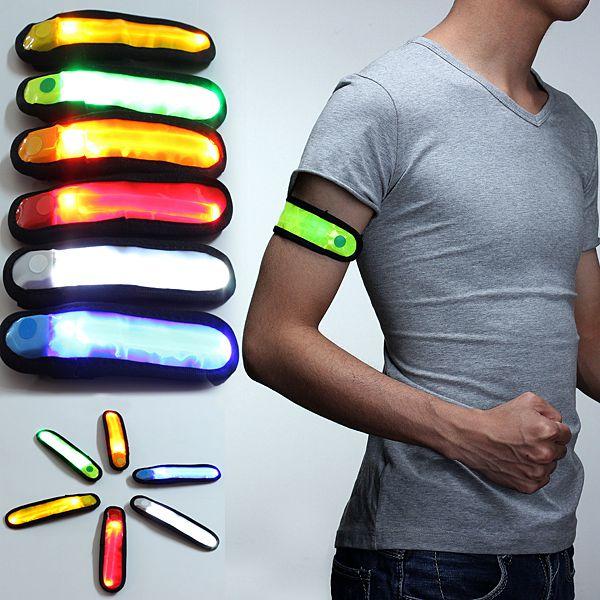 LED Safety Reflective Armband Flashing Strap Belt Bracelet Unisex Men Jewelry