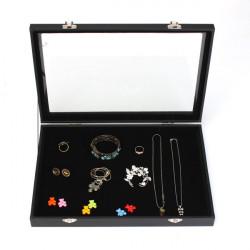 Large Jewelry Tray Storage Box Necklaces Earrings Bracelets Showcase