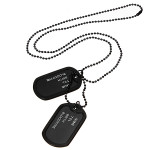 Men Black Military Army 2 Dog Tags Chain Pendant Necklace N045 Men Jewelry