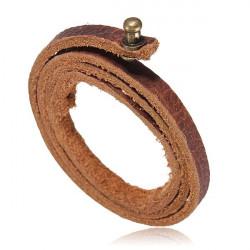Men Leather Adjustable Bracelet Bangle Wrist Band Three Layer