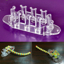 Multicolor DIY Bracelet Monster Tail Making Knit Loom Weaver