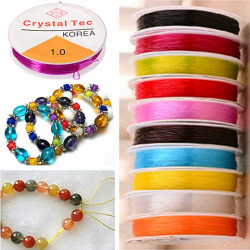 Multicolor Transparent Elastic Wire String Jewelry Bracelet String