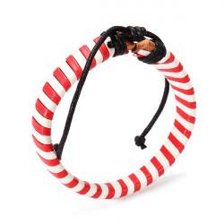 Multicolor Wrapped Leather Bracelet Rope Belt Men Bracelet