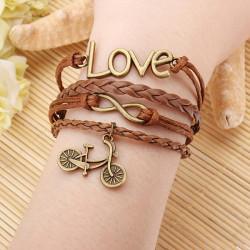 Owl Cross Anchor Love Multilayers Bracelet Leather Men Bracelet