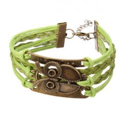 Owl Love Letter Multi Armband Oändlig Symbol Läderarmband