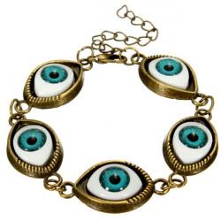 Punk Evil Eyes Charm Bangle Bracelet Metal Eyeballs Bracelet Unisex