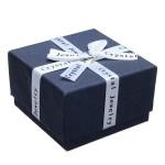 Ribbon Bowknot Cube Ring Earrings Jewelry Box Cardboard Gift Box Jewelry Supplies