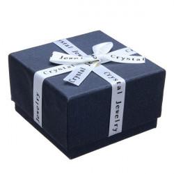 Ribbon Bowknot Cube Ring Earrings Jewelry Box Cardboard Gift Box