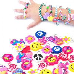 Silicone Rubber Charms Pendants DIY Loom Bands Bracelet