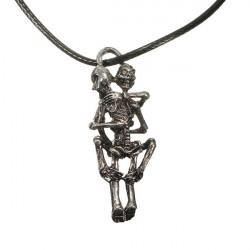 Stainless Steel Infinity Love Skull Man Hug Chain Pendant Necklace