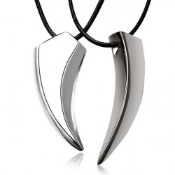 Unisex Alloy Wolf Tooth Animal Pendant Necklace