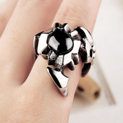 Vintage Jewelry Black Scorpion Titanium Steel Ring For Men