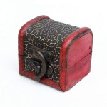 Vintage Mini Wooden Jewelry Box Treasure Storage Case Container Jewelry Supplies