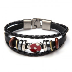 Vintage Multilayer Wrap Genuine Leather Bracelet For Men