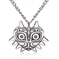 Vintage Punk Silver Color Mask Pendant Necklace Men Jewelry