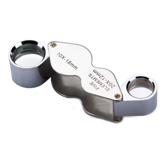 10X 20X Jeweller Loupe Magnifier Dual Magnifying Glass 2021