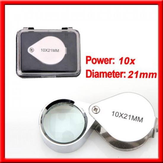 10x 21mm Jewelers Magnifier Loupe Magnifying Glass loupe 2021
