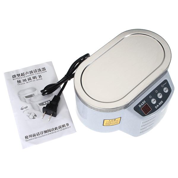 110V Mini Ultrasonic Cleaner Jewelry Glasses Circuit Board Watch CD Watch Tools