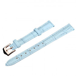 12mm 14mm 16mm 18mm 20mm PU Leather Blue Wrist Watch Band