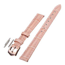 12mm 14mm 16mm 18mm 20mm PU Leather Pink Wrist Watch Band