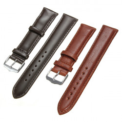 16-22mm Leather Tan Camel Watch Strap Watchband Buckle Replacement