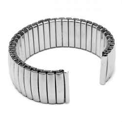 18mm Siliver Color Elastic Stainless Steel Strap Watch Band