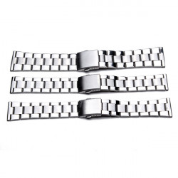 20mm 22mm 26mm Silver Color Stainless Steel Strap Watch Band