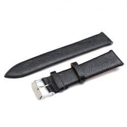 20mm PU Leather Men Women Mental Wrist Watch Band