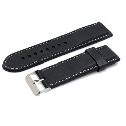 22mm 24mm 26mm Rubber Men Women Mental Wrist Watch Band