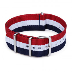 22mm Nylon Polyamides Canvas Color Mental Men Women Watch Band