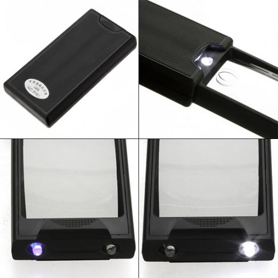 2.5X 45X Pullout LED Pocket Magnifier Loupe 2021