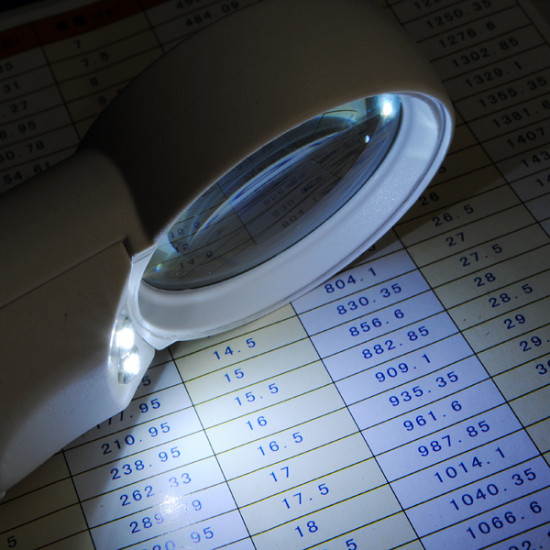 2 LED 15x Hand-Hold Magnifier Magnifying Glass Loupe 2021