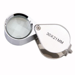 30 x 21mm Glass Jeweler Loupe Eye Magnifier Magnifying