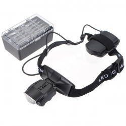 5 Lens Loop Head Band Visor LED Magnifying Glass Loupe 1.0-3.5X