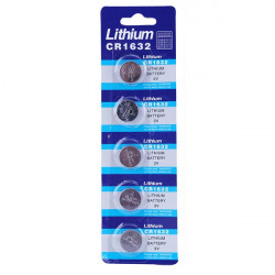 5PCS Lithium CR 1632 Cell Button Coin Battery Watch 3V Calculator
