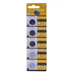 5PCS TIANQIU CR 1616 Cell Button Coin Battery Watch 3V Toys Calculator