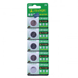 5PCS TIANQIU CR 1632 Cell Button Coin Battery Watch 3V Toys Calculator