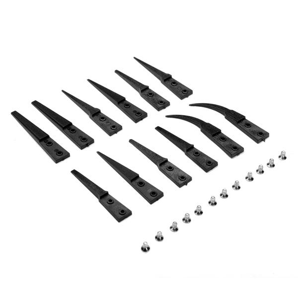 6pcs Anti-static VETUS Changeable Tip Cuspidal Nipper Plastic Tweezer Watch Tools