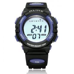 ALIKE A5109 Sport Back Light Week Date Men Women Quartz Wrist Watch