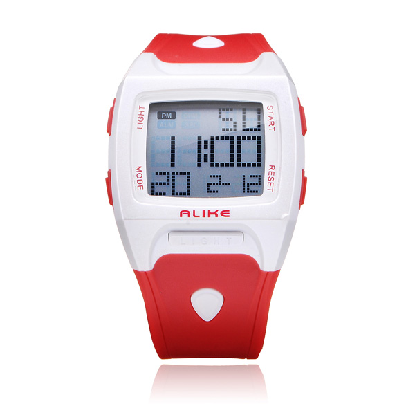 ALIKE A9149 Sport Black Rectangle Light Men Women Quartz Wrist Watch Watch