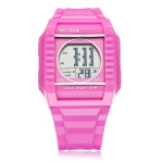 ALIKE A9150 Sport Pink Square Back Light Men Women Quartz Wrist Watch