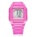 ALIKE A9150 Sport Pink Square Back Light Men Women Quartz Wrist Watch