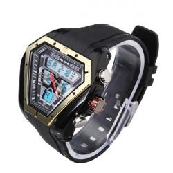 ALIKE AK1054 Sport LED Waterproof Dual Display Rubber Men Wrist Watch