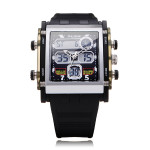 ALIKE AK1057 Sport Black Square Back Light Men Women Quartz Watch