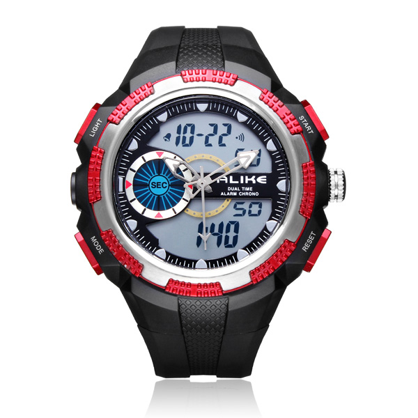 ALIKE AK1387 Sport Date Alarm Outdoor Men Rubber Wrist Watch Watch