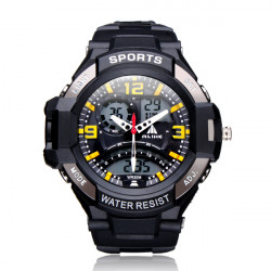 ALIKE AK1390 Sport Date Alarm Outdoor Men Rubber Wrist Watch