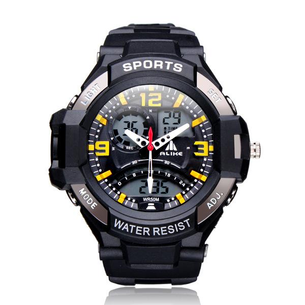 ALIKE AK1390 Sport Date Alarm Outdoor Men Rubber Wrist Watch