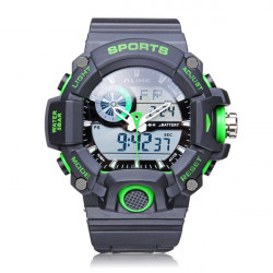 ALIKE AK14101 Back Light Sport Big Dial Alarm Men Quartz Watch