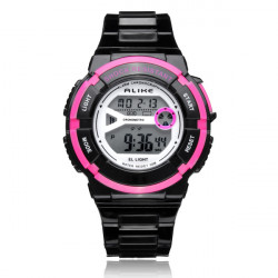 ALIKE AK14103 Sport Date Alarm Outdoor Women Rubber Wrist Watch