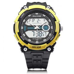 ALIKE AK14110 Back Light Sport Round Dial Alarm Men Women Quartz Watch